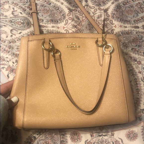 Coach Handbags - NWOT Blush sparkly coach purse
